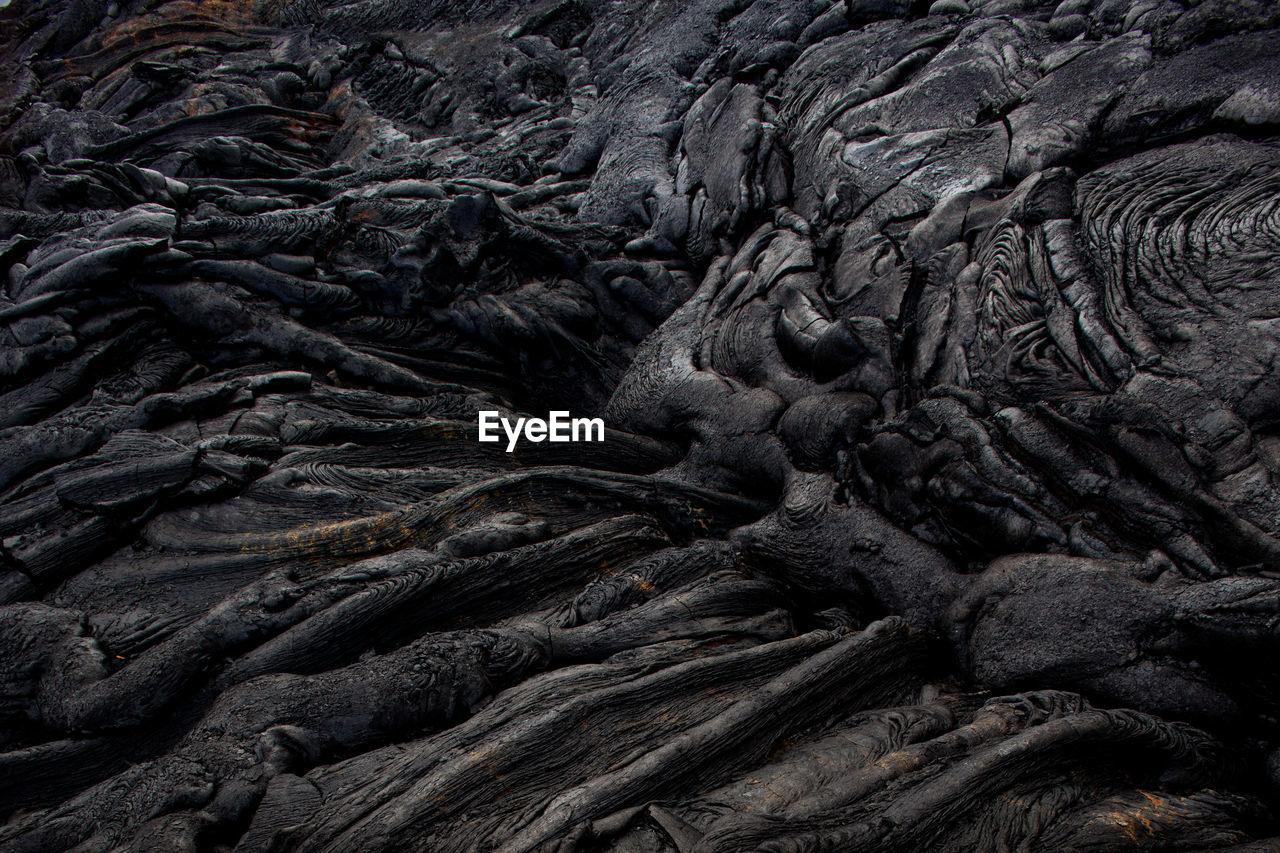 Full frame shot of volcanic landscape