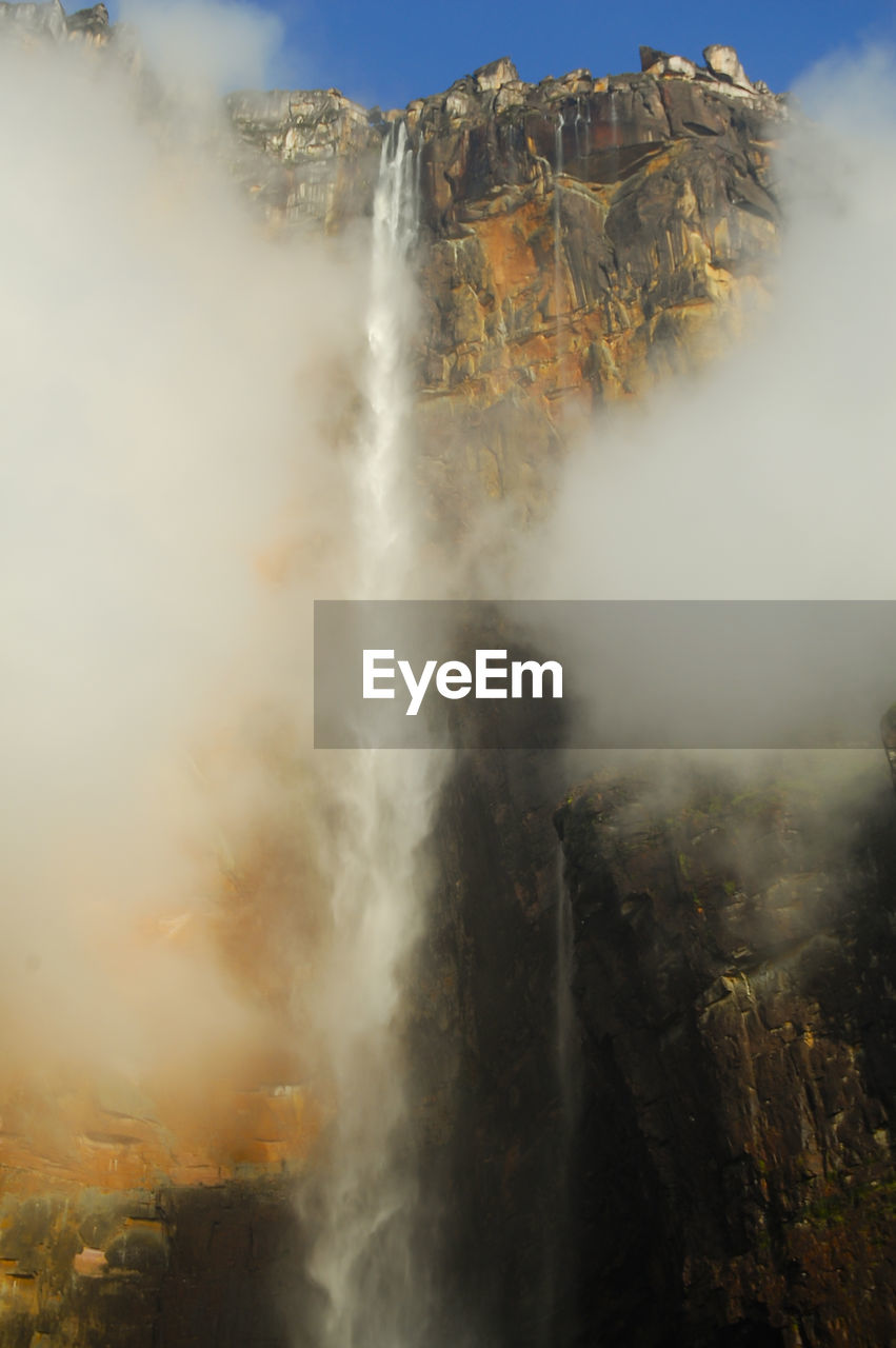 Low Angle View Of Angel Falls