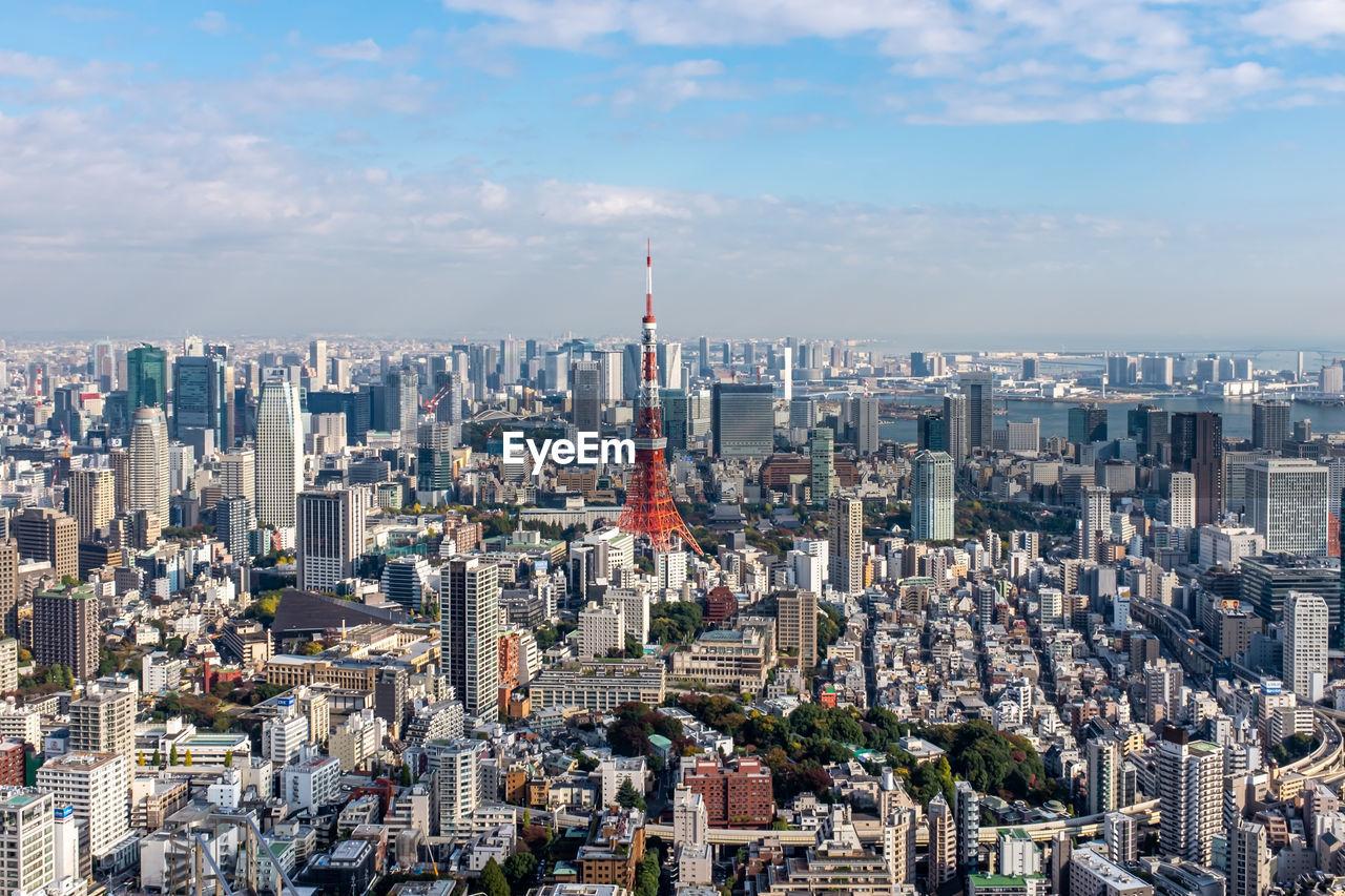 Tokyo urban skyline panorama