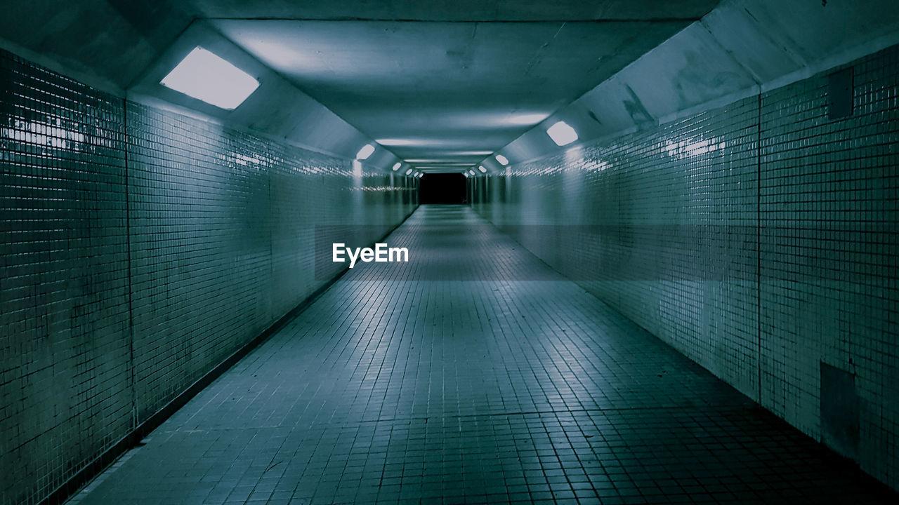 Illuminated Empty Tunnel