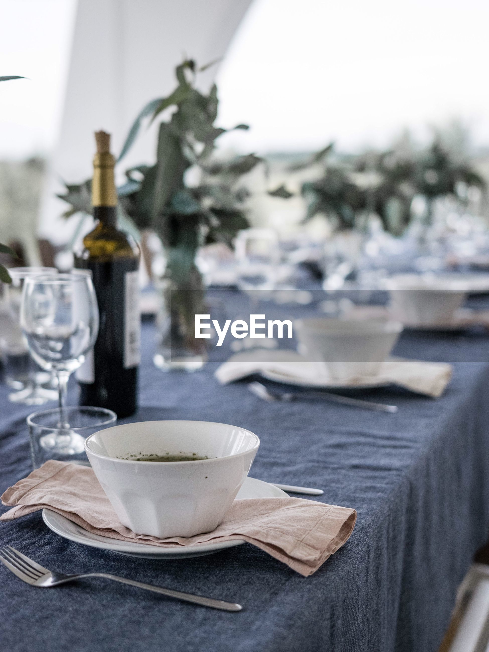 Close-up of place setting