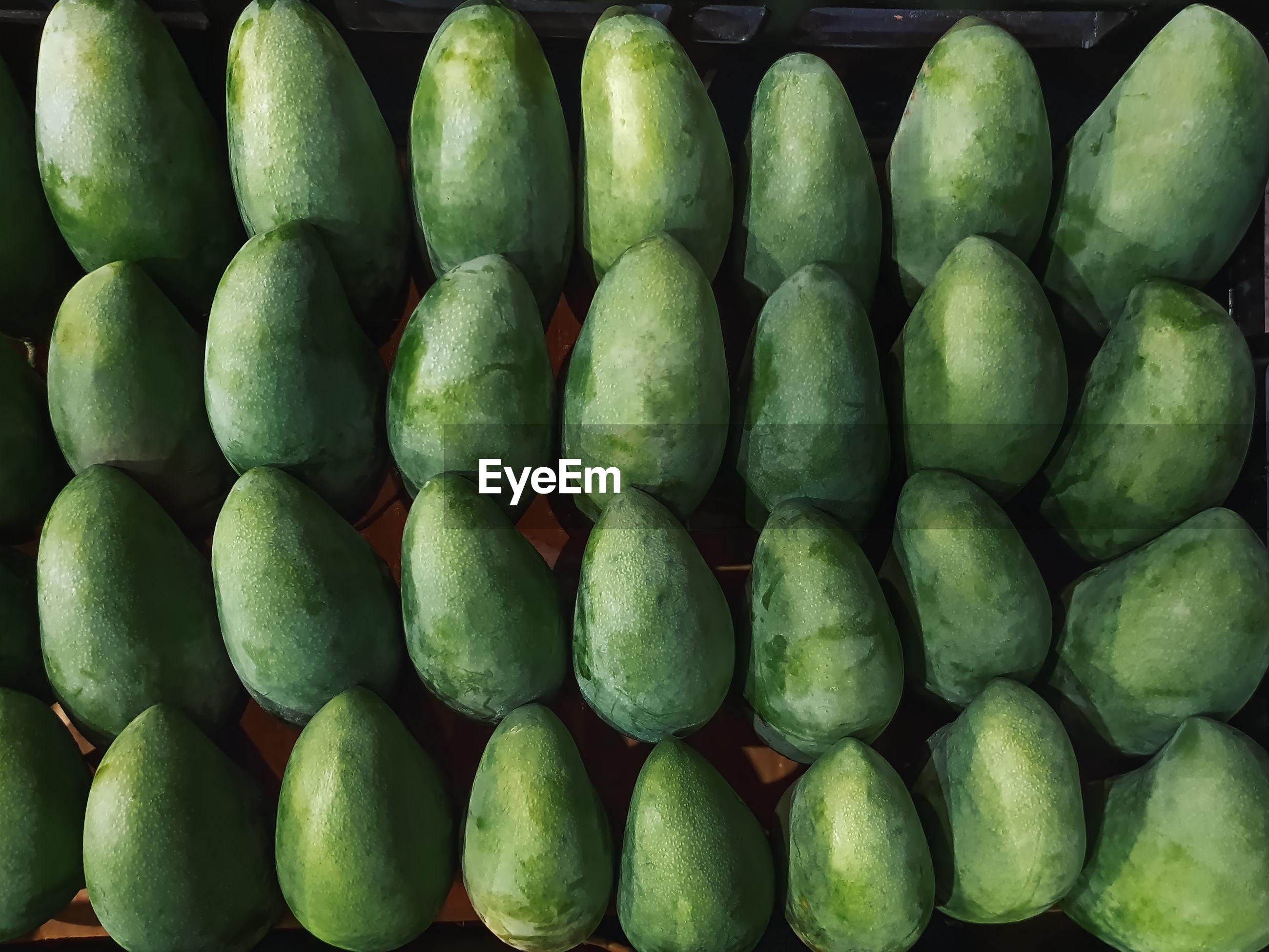 Full frame shot of mango fruits for sale at market stall