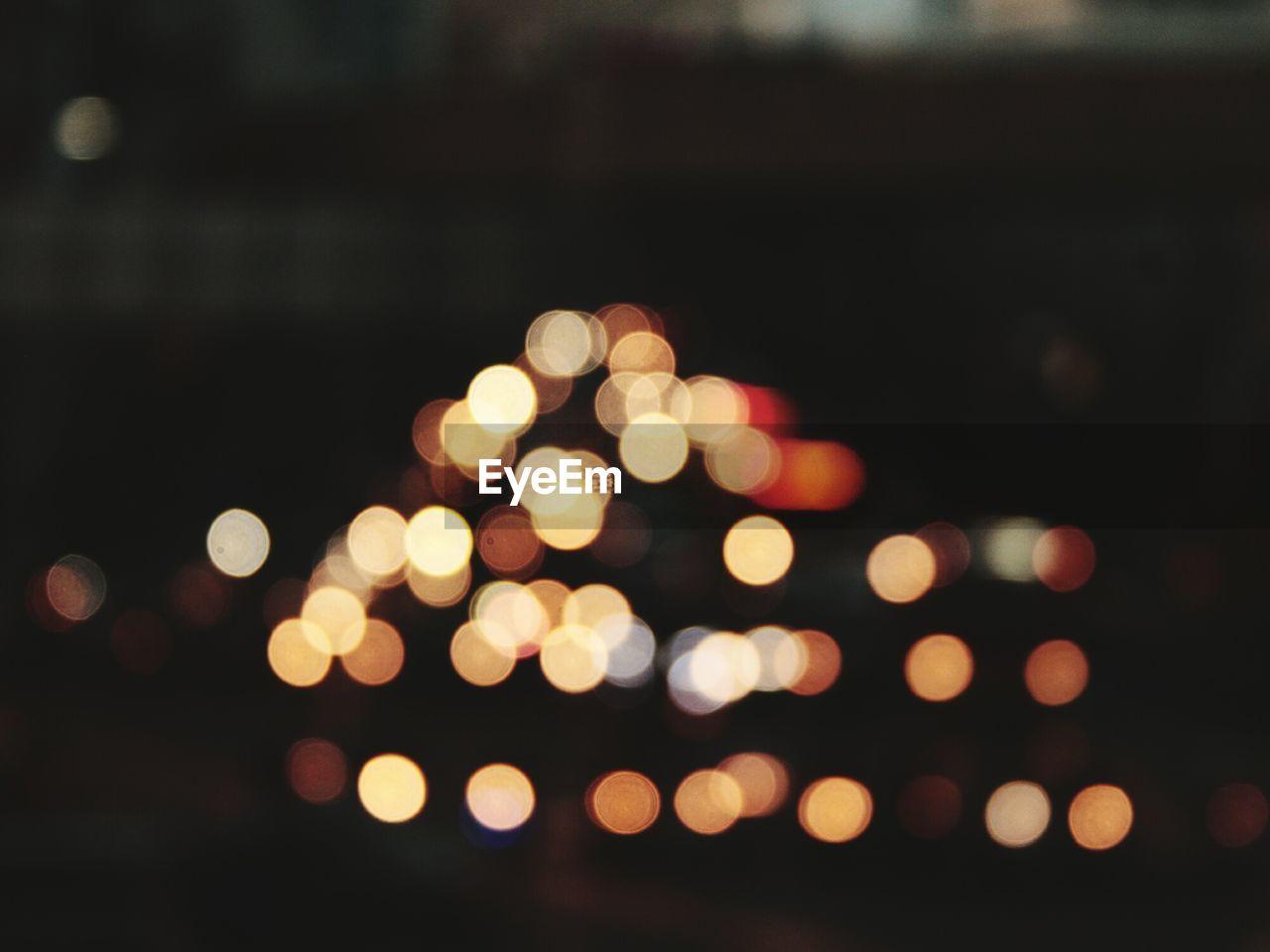 illuminated, night, defocused, no people, close-up, outdoors