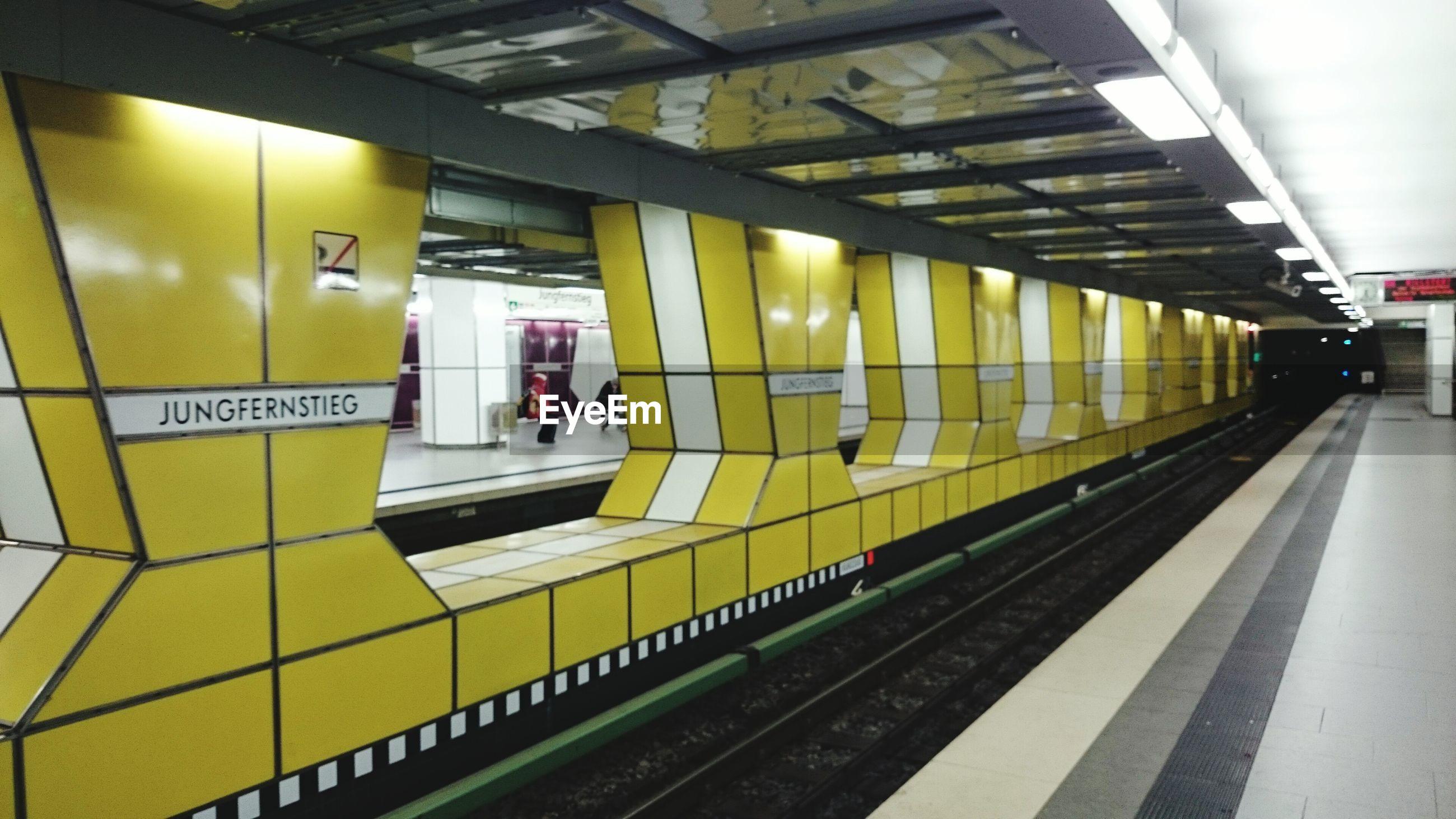 Interior underground railroad station