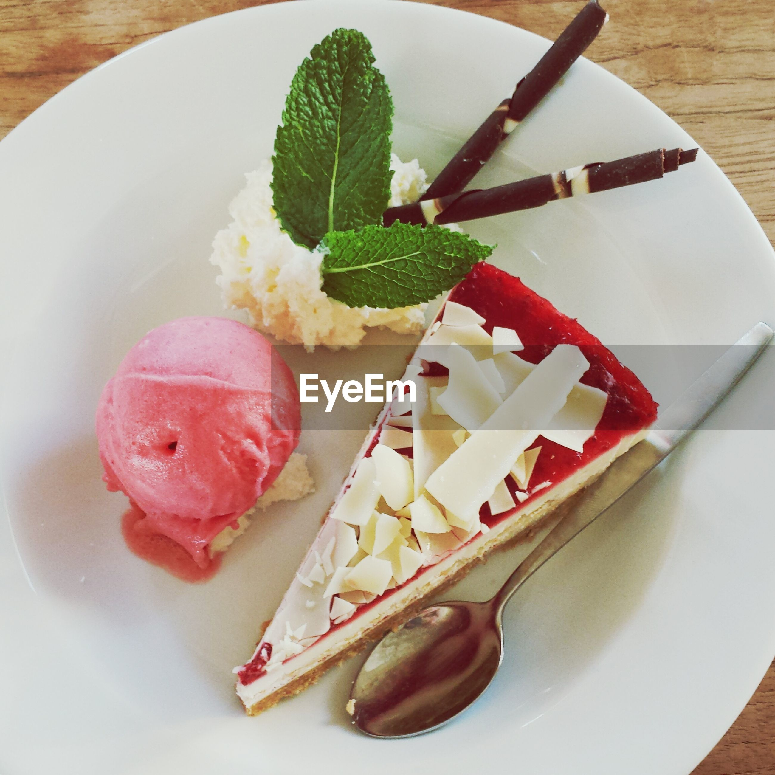 food, food and drink, freshness, plate, ready-to-eat, indoors, still life, indulgence, sweet food, table, dessert, healthy eating, serving size, close-up, high angle view, slice, temptation, fruit, cake