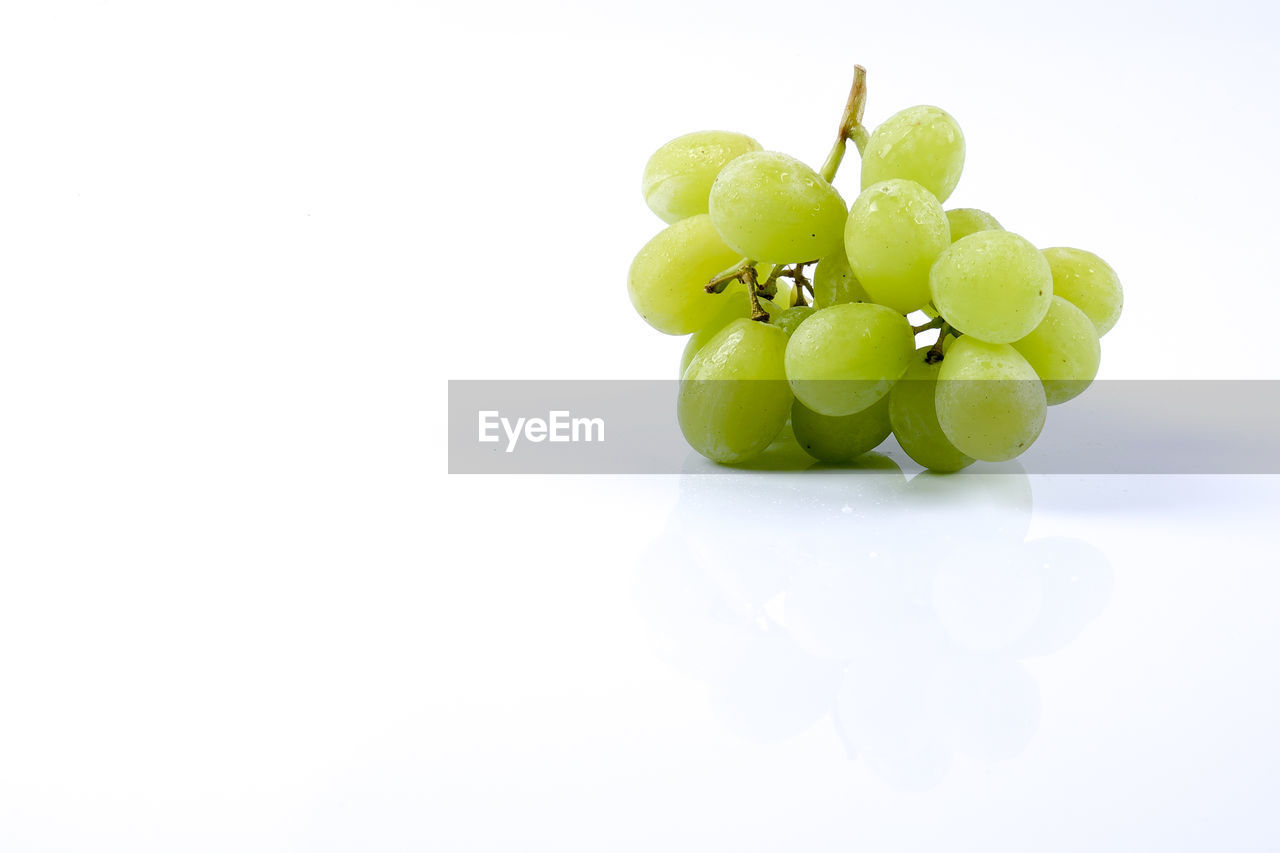 white background, food and drink, studio shot, food, green color, healthy eating, freshness, fruit, close-up, no people, day