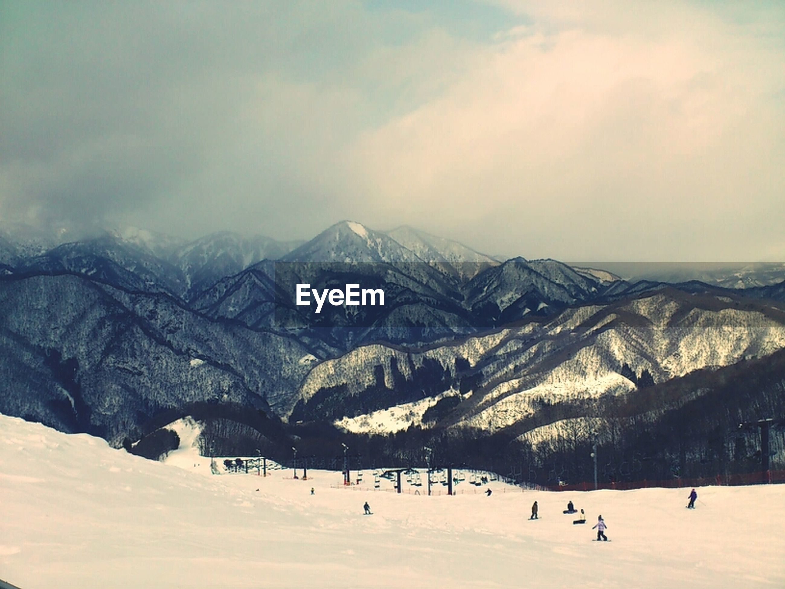 mountain, snow, winter, cold temperature, mountain range, season, scenics, weather, tranquil scene, snowcapped mountain, landscape, sky, tranquility, beauty in nature, cloud - sky, nature, covering, cloudy, non-urban scene, cloud