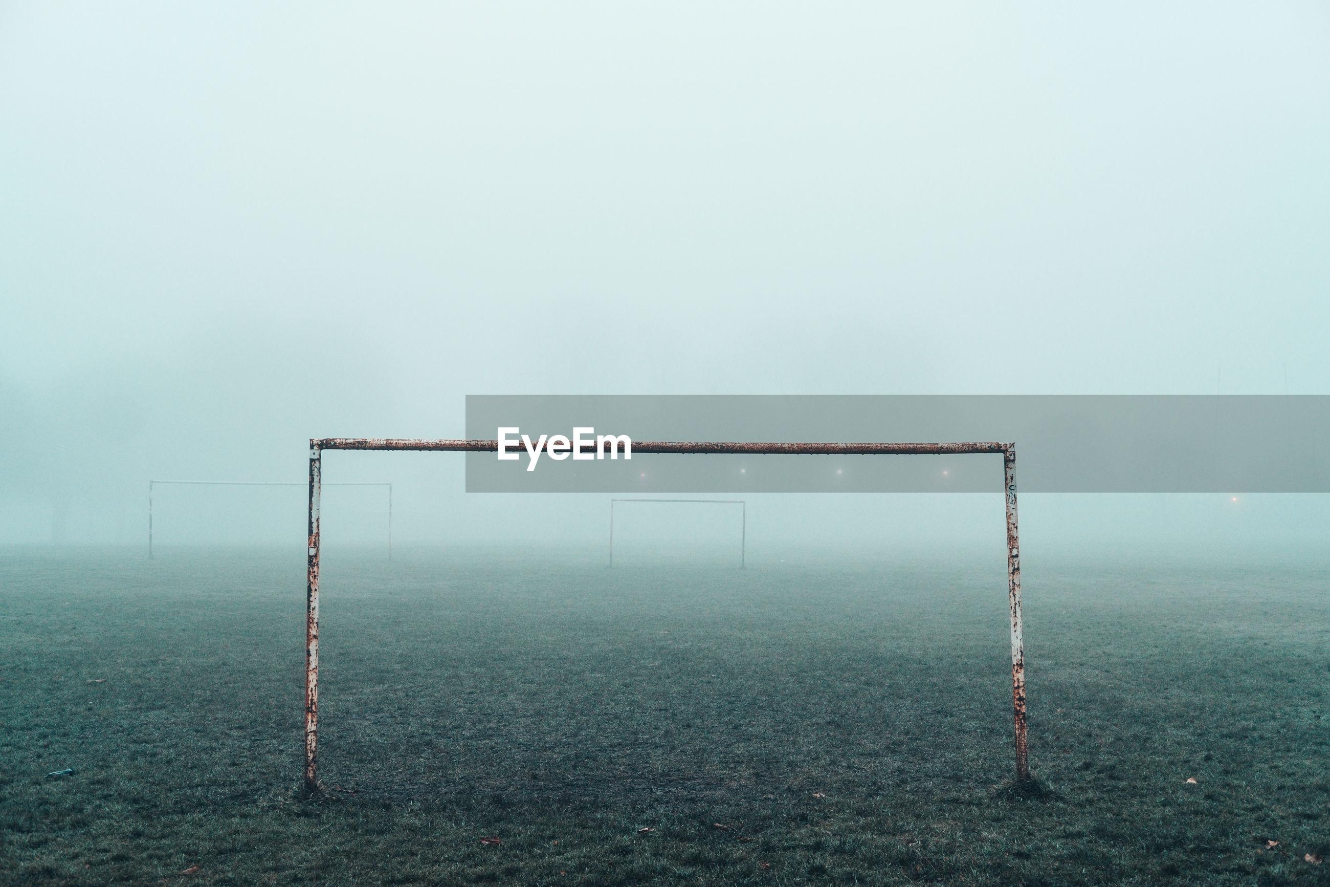 VIEW OF SOCCER BALL IN FOG