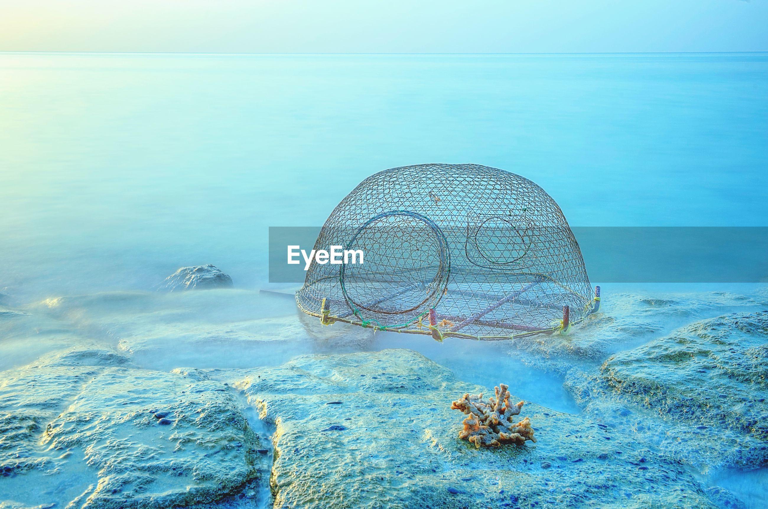 Fishing net in sea