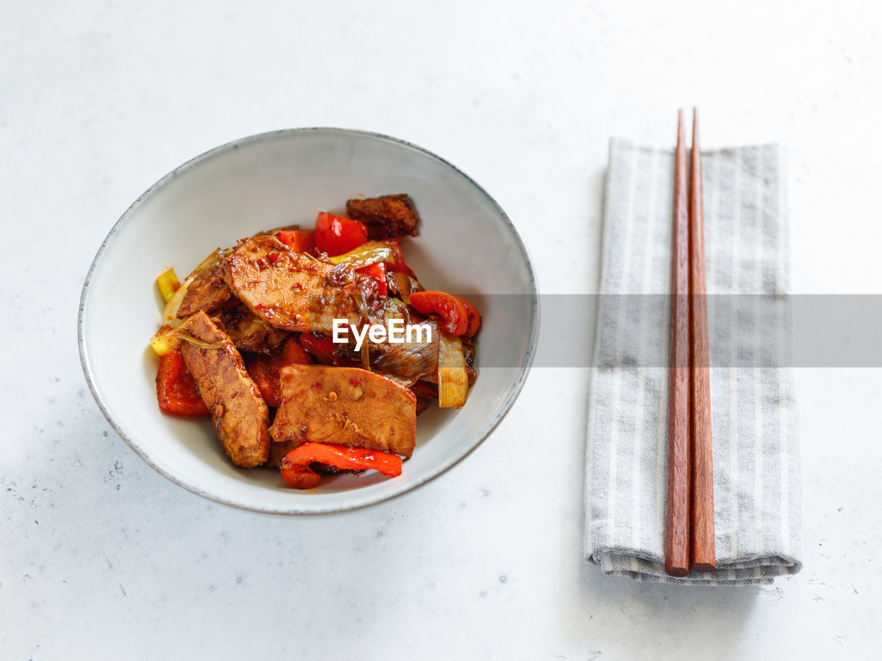 food and drink, food, still life, table, meat, freshness, indoors, ready-to-eat, high angle view, healthy eating, directly above, wellbeing, no people, plate, bowl, chicken, serving size, eating utensil, chicken meat, close-up, tray, temptation