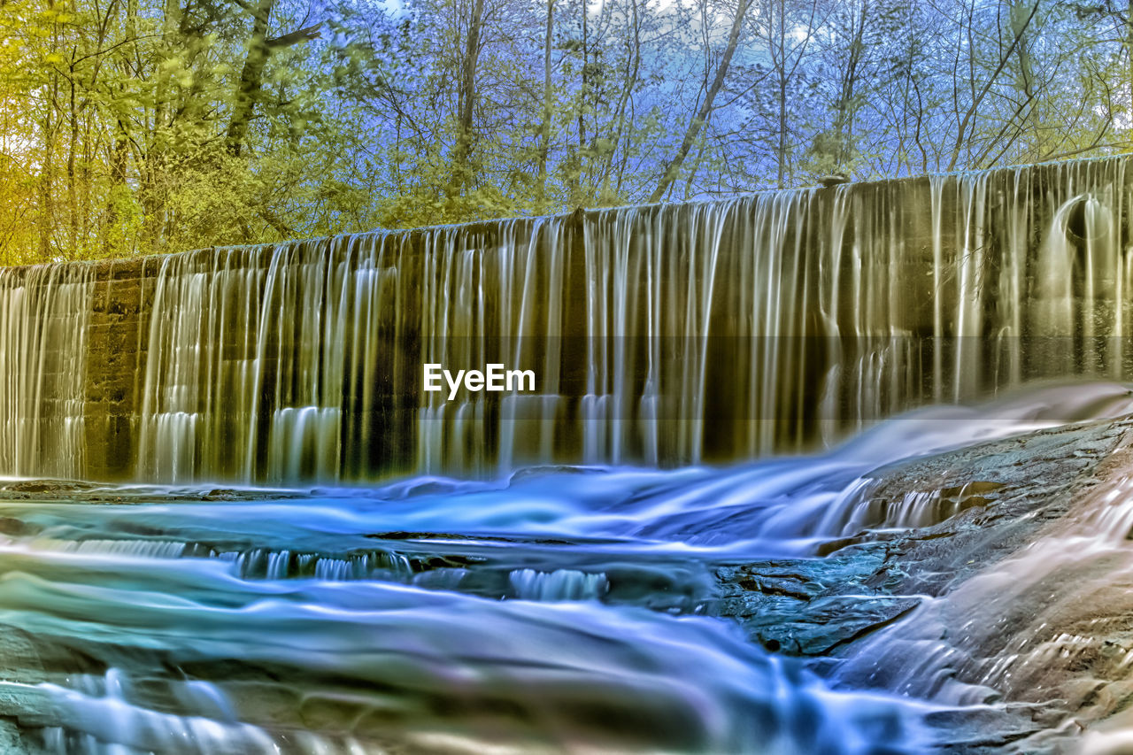 flowing water, water, nature, tree, beauty in nature, long exposure, motion, outdoors, waterfall, no people, waterfront, river, tranquility, day, scenics, sky