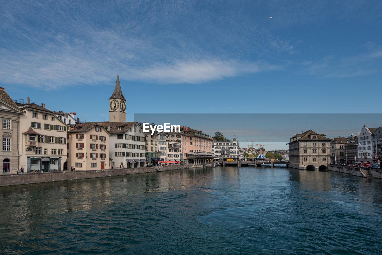 Zurich cityscape from munsterbrucke
