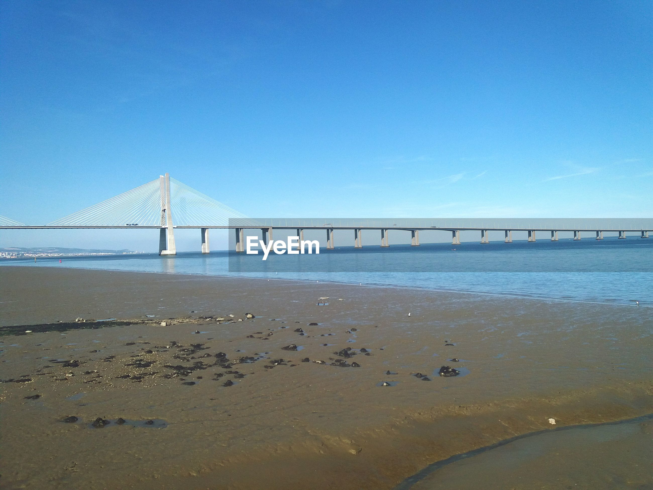 SUSPENSION BRIDGE AT BEACH
