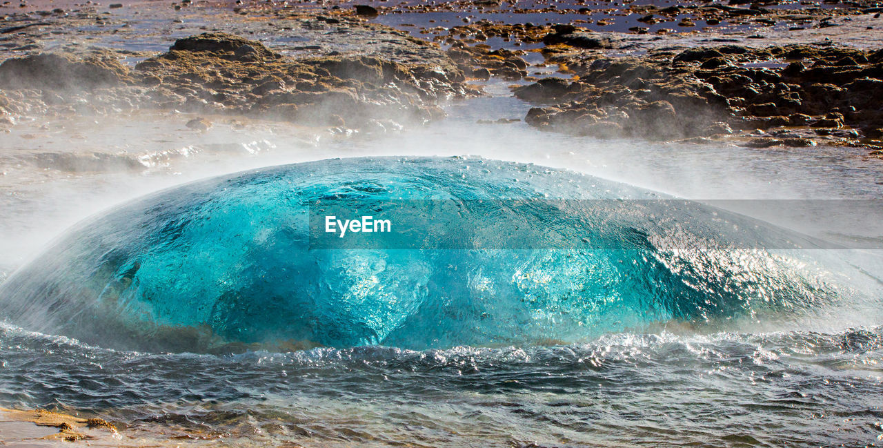 Geyser About To Erupt