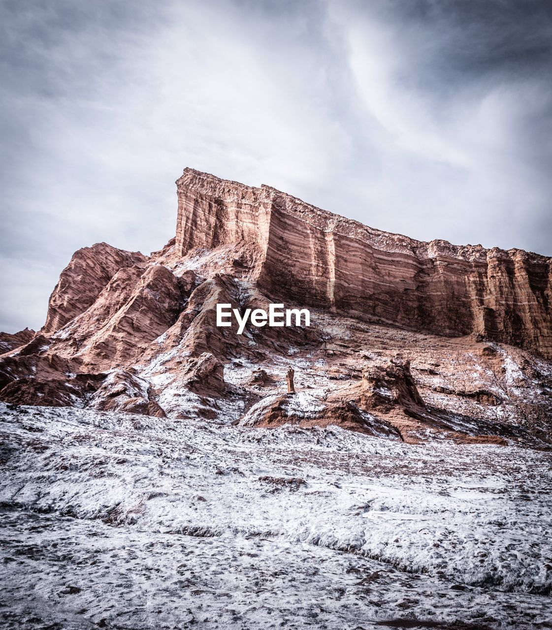 sky, cloud - sky, beauty in nature, scenics - nature, nature, rock, tranquil scene, tranquility, no people, non-urban scene, day, rock formation, mountain, rock - object, environment, cold temperature, winter, land, idyllic, outdoors, formation, eroded