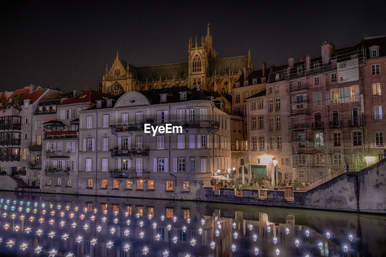 building exterior, architecture, built structure, illuminated, night, building, city, water, reflection, sky, travel destinations, waterfront, nature, no people, the past, history, religion, dusk, outdoors, canal