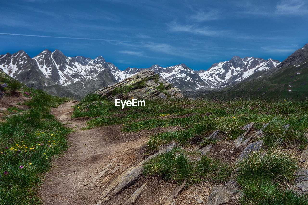 mountain, sky, scenics - nature, beauty in nature, plant, landscape, environment, nature, no people, cloud - sky, tranquil scene, mountain range, day, wilderness, tranquility, snow, cold temperature, mountain peak, outdoors, snowcapped mountain