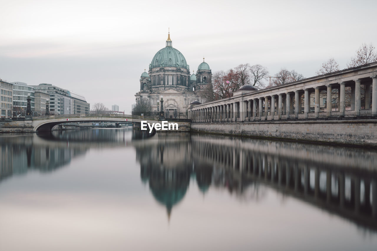 Berlin cathedral reflecting on spree river