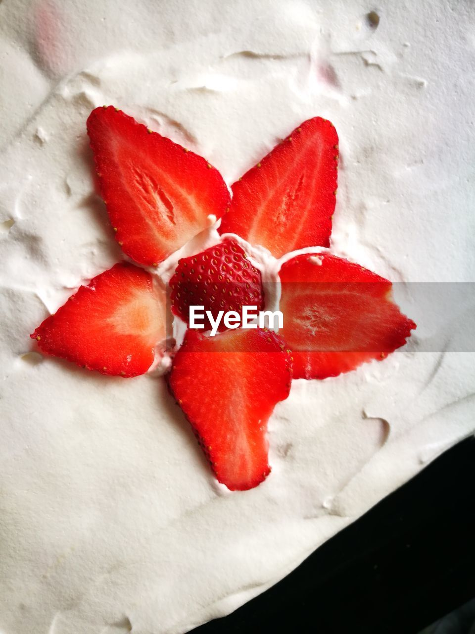 red, food and drink, strawberry, freshness, fruit, food, still life, sweet food, close-up, indoors, no people, indulgence, high angle view, healthy eating, slice, dessert, ready-to-eat, day