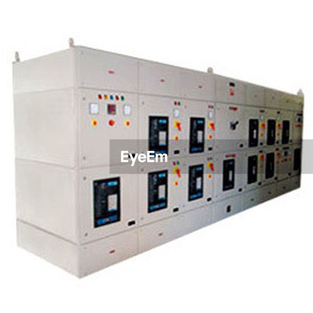 industry, electricity, control panel, white background, technology, no people