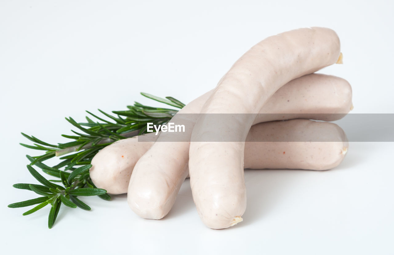 Close-up of sausage with label