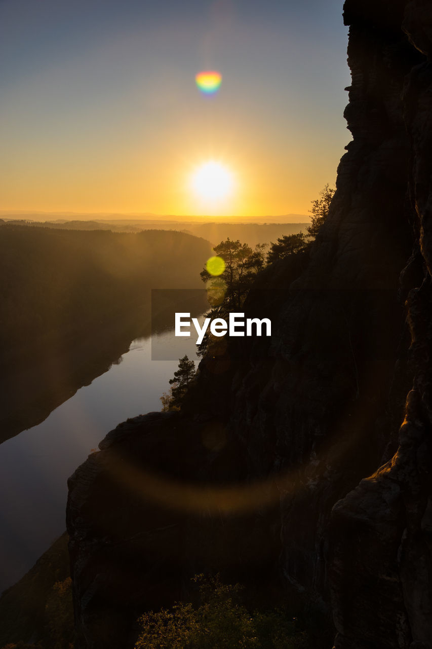 Scenic View Of Mountain During Sunset