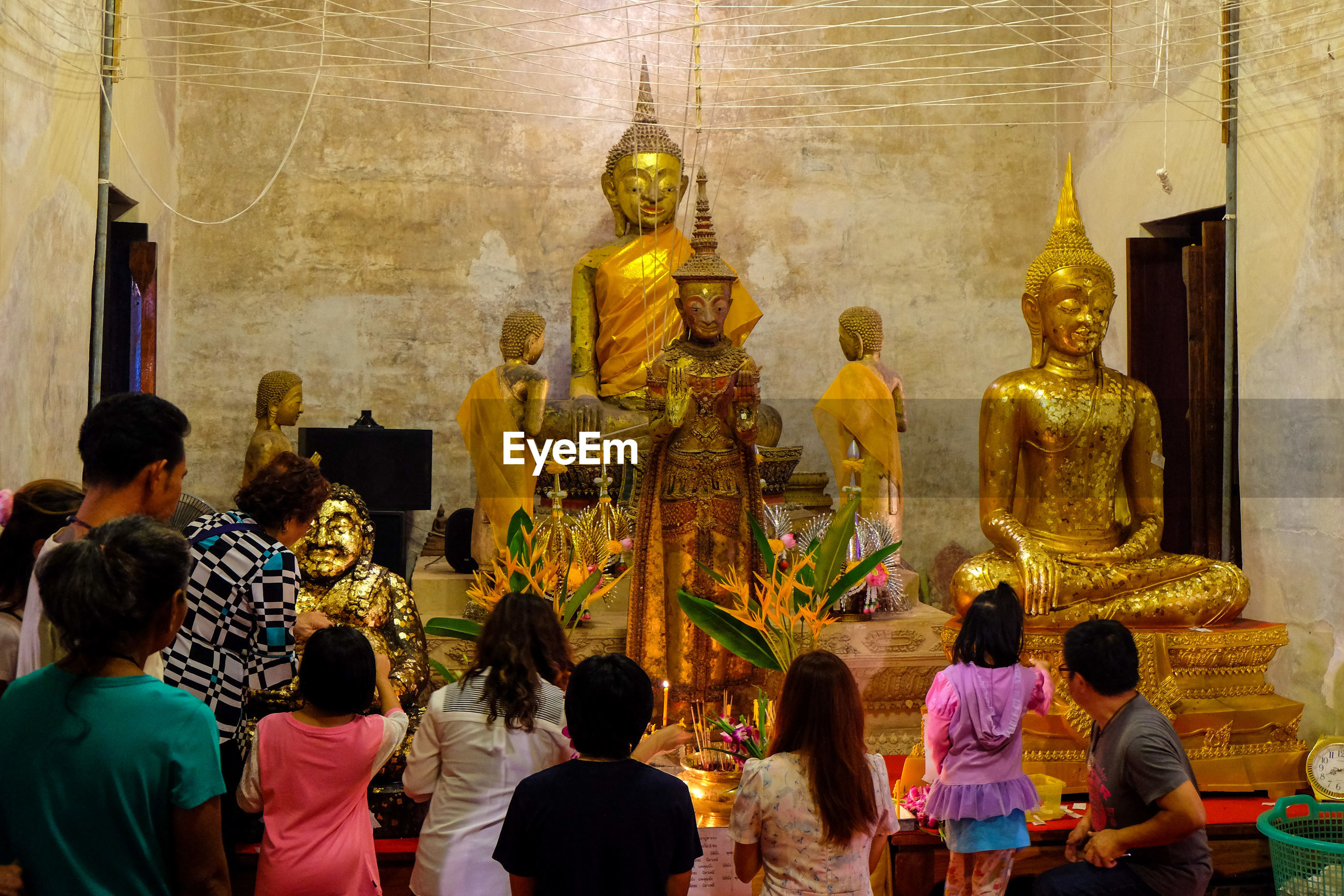 Group of people in temple