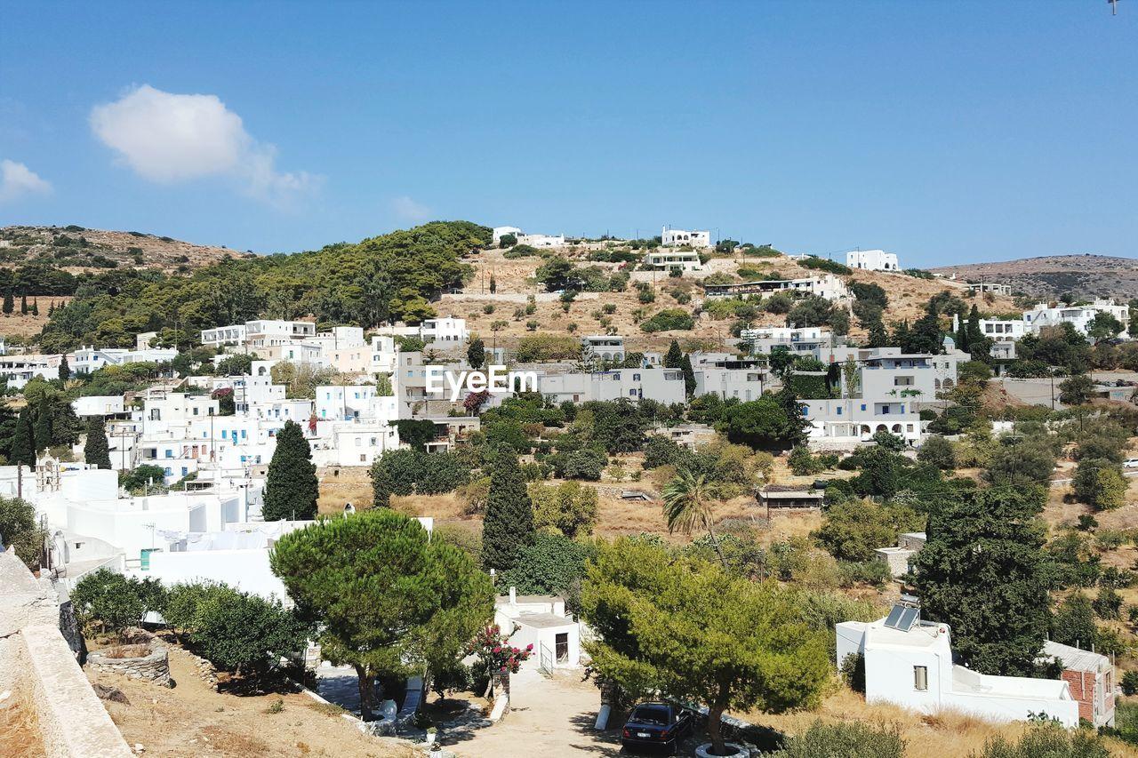 mainland village in paros island