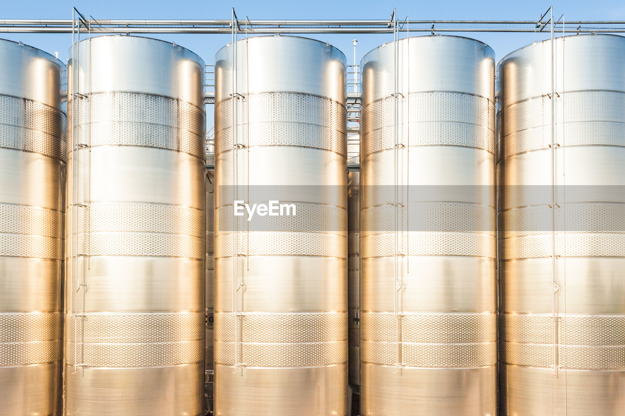 Full frame shot of storage tanks