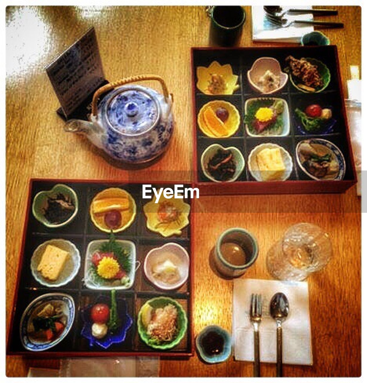 food and drink, food, plate, table, indoors, freshness, slice, healthy eating, ready-to-eat, seafood, meal, sushi, no people, variation, chopsticks, japanese food, directly above, indulgence, teapot, day, multiple image