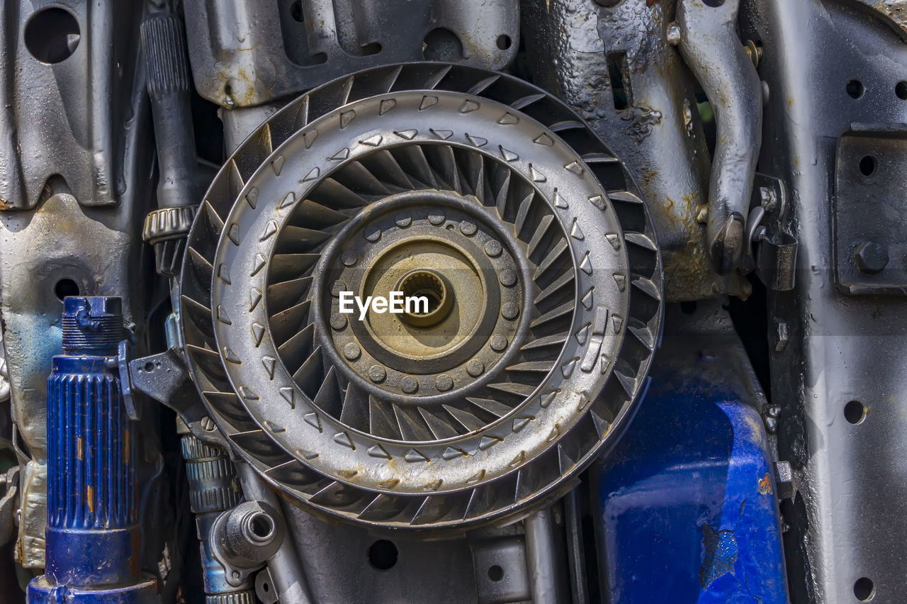 Full frame shot of car engine