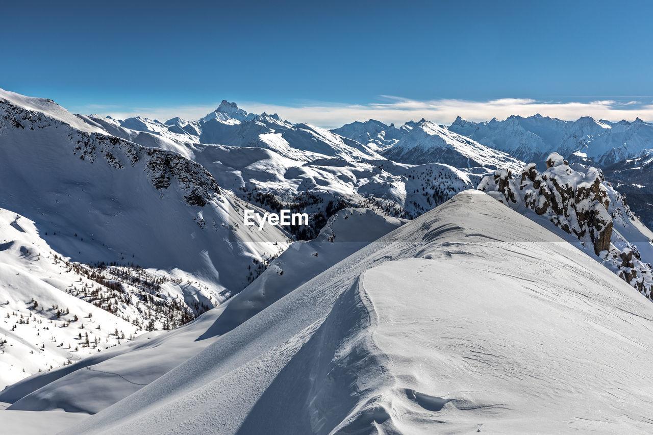 Viewpoint on queyras and mont viso - point de vue sur le queyras et le mont viso, hautes alpes