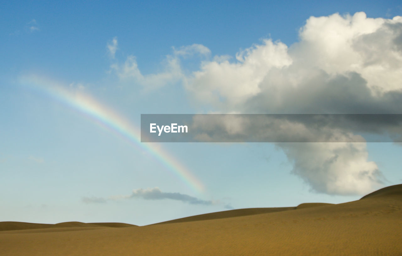 nature, scenics, sky, cloud - sky, rainbow, beauty in nature, landscape, tranquil scene, tranquility, day, outdoors, double rainbow, no people