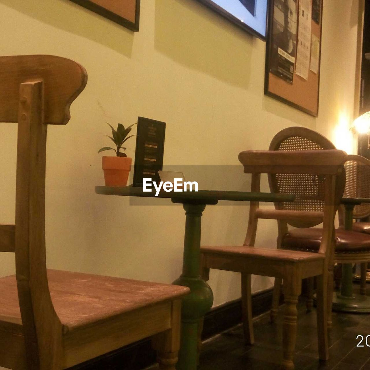 chair, table, no people, indoors, furniture, built structure, stool, wood - material, architecture, seat, day