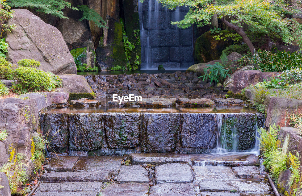 architecture, built structure, plant, staircase, no people, the past, wall, history, day, solid, nature, stone material, old, outdoors, stone wall, building exterior, travel destinations, wall - building feature, water, building, ancient civilization, ornamental garden