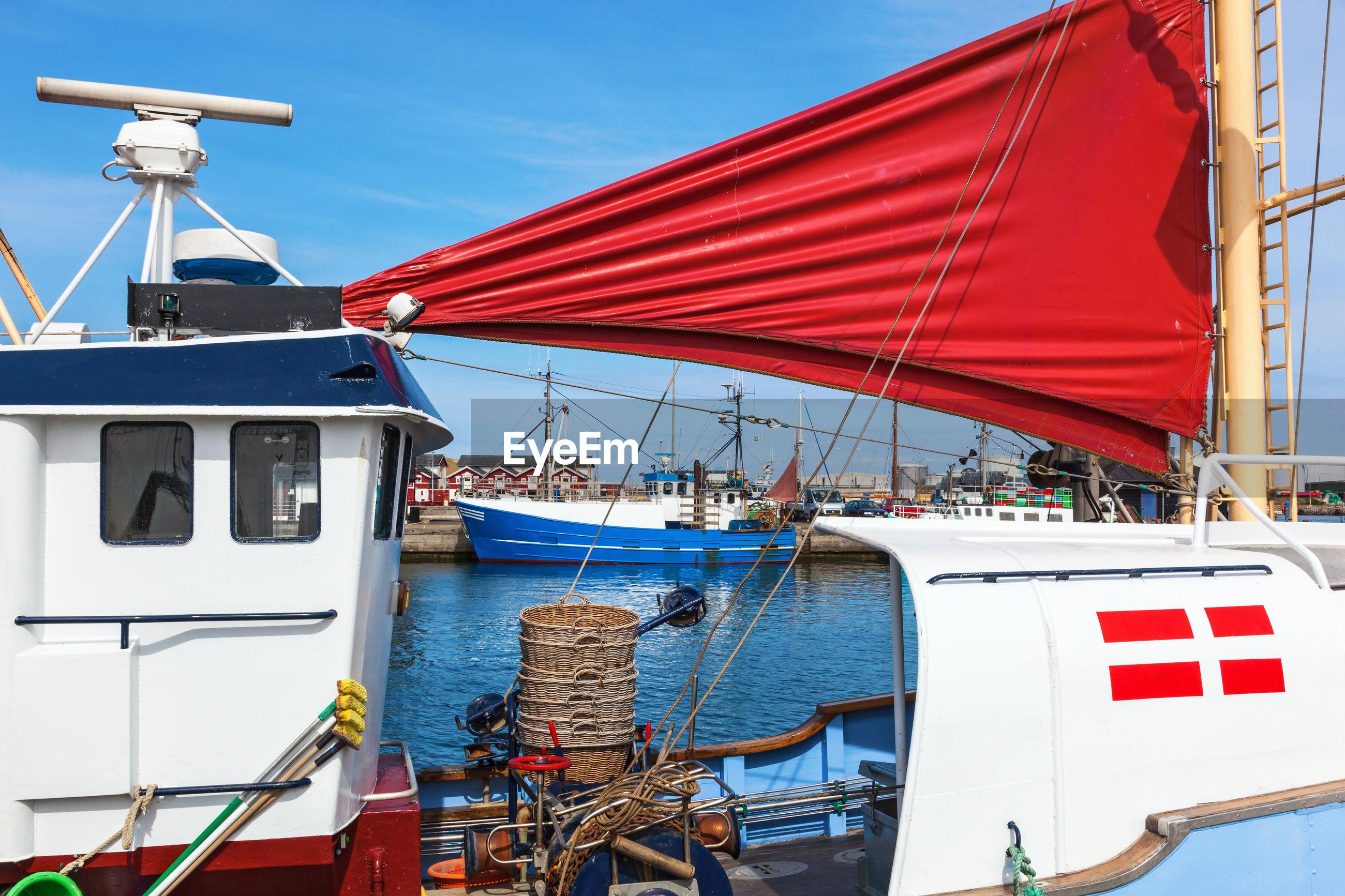 Danish fishing boat lying at the harbor