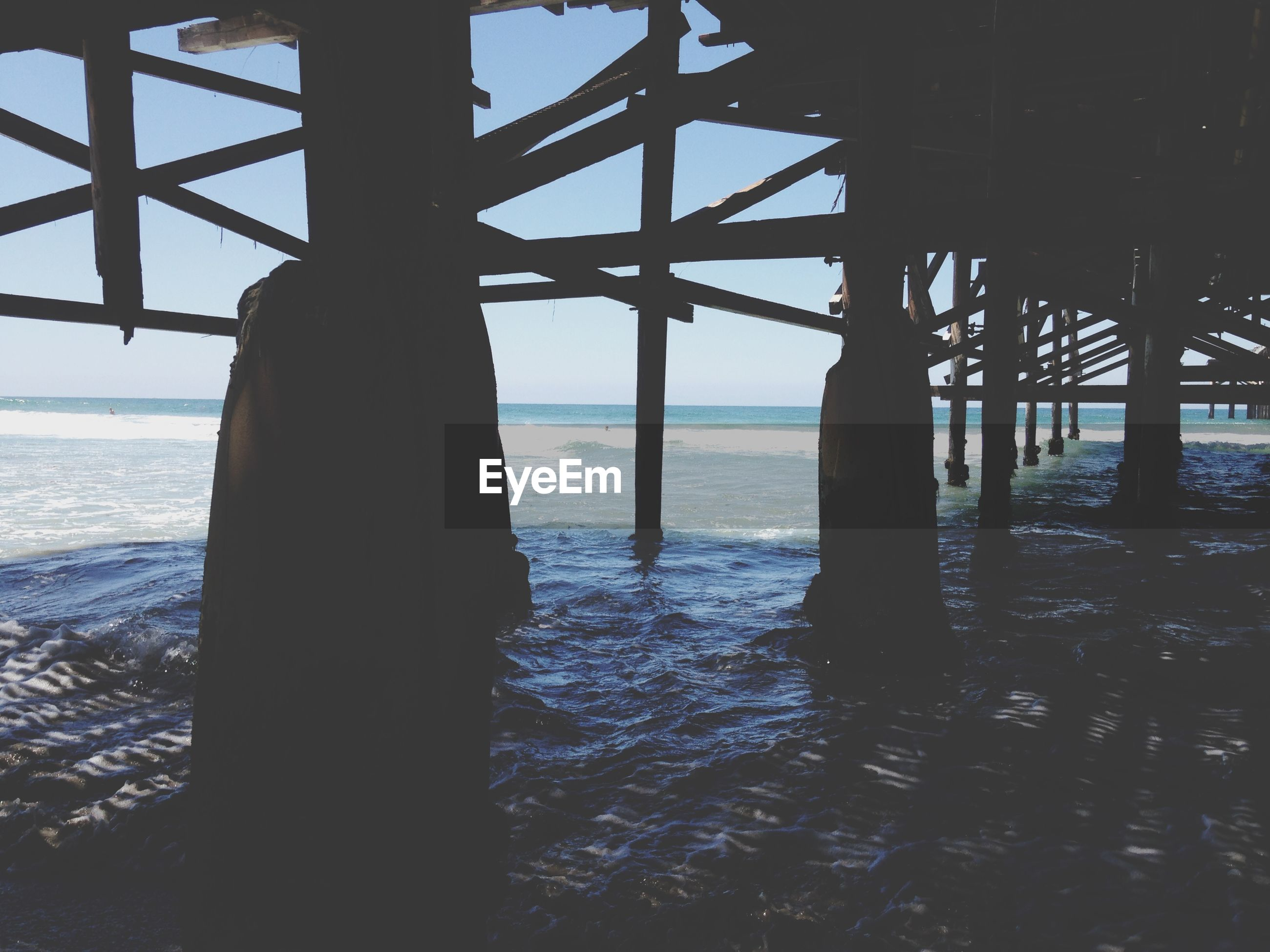 sea, water, horizon over water, built structure, sky, pier, architecture, beach, tranquility, tranquil scene, nature, scenics, architectural column, sunset, silhouette, beauty in nature, shore, no people, column, support