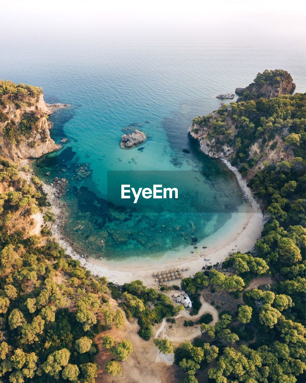 sea, water, scenics, beauty in nature, nature, beach, tranquility, tranquil scene, high angle view, idyllic, no people, blue, aerial view, landscape, day, outdoors, tree, horizon over water, sky