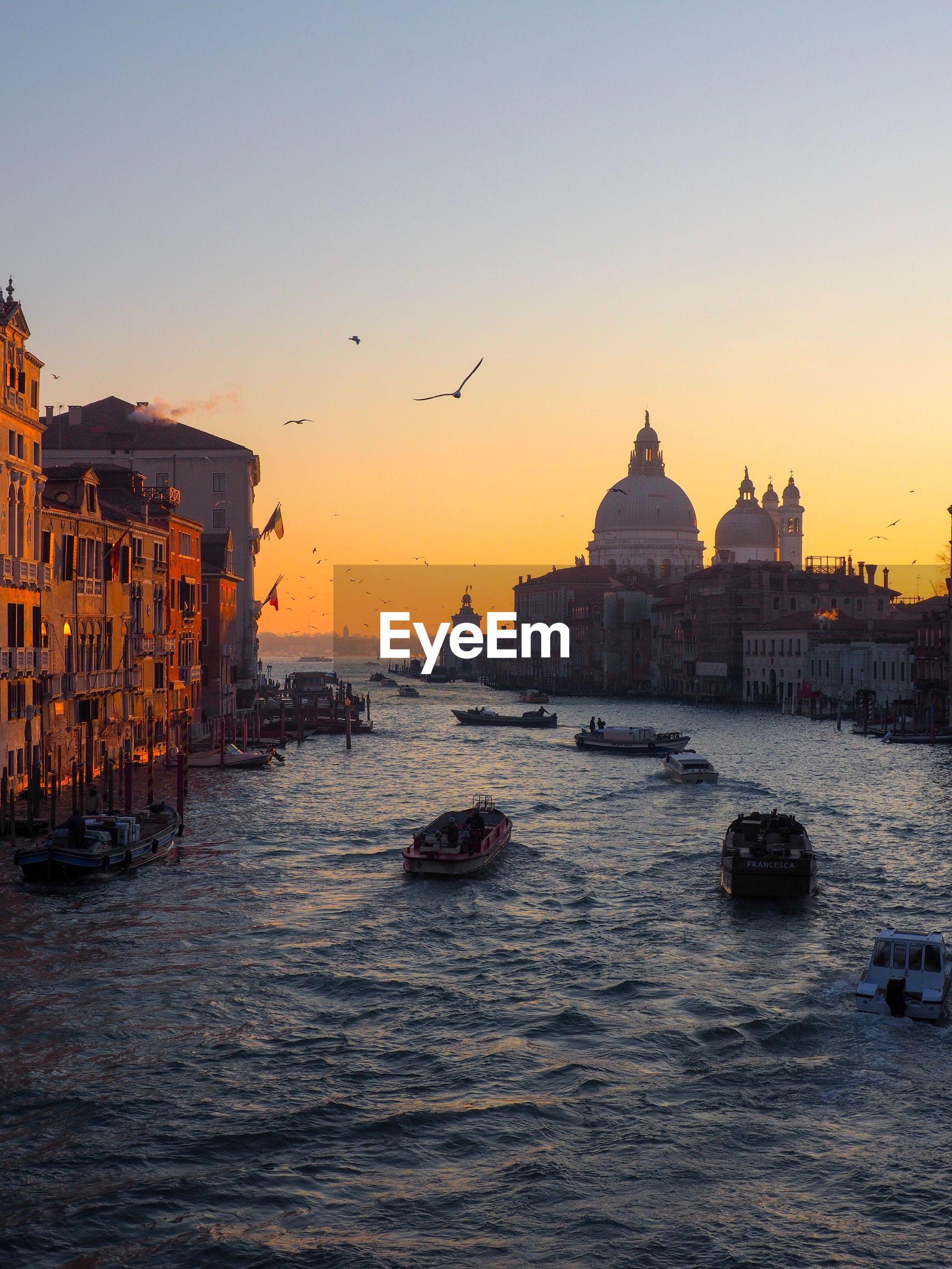 Venice skyline at sunset
