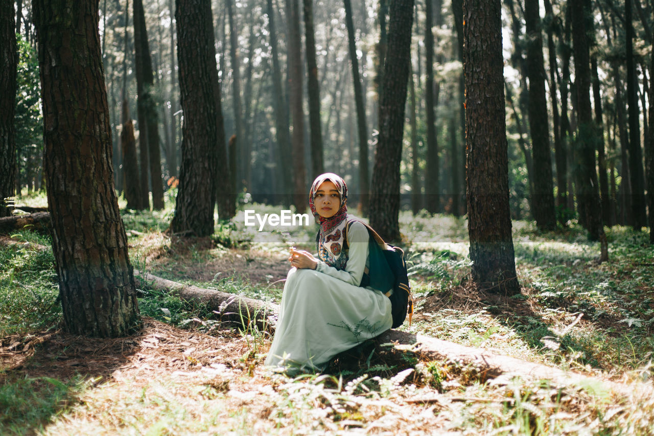 WOMAN AT FOREST