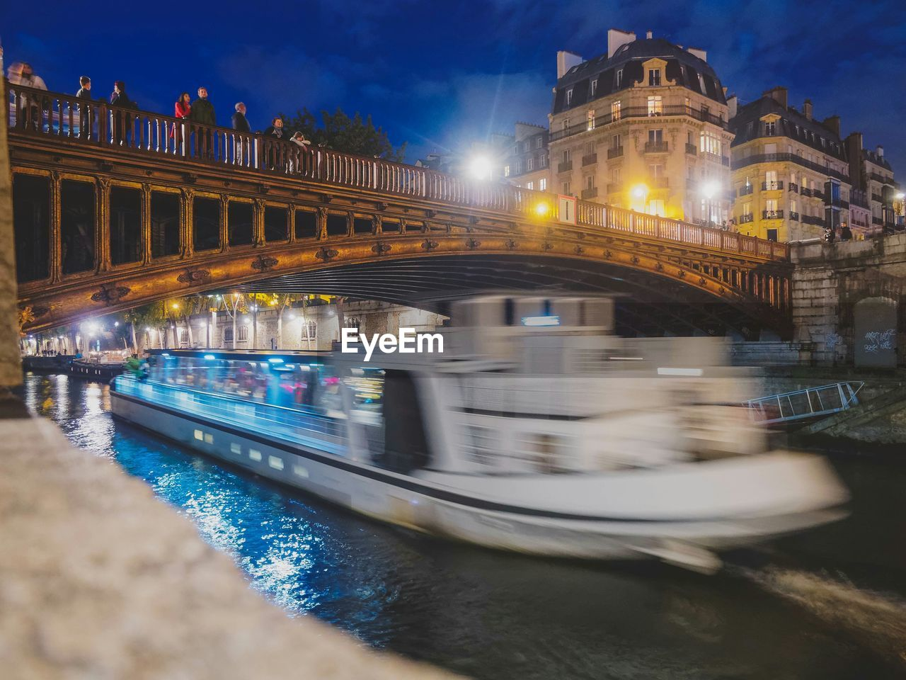 architecture, built structure, transportation, water, building exterior, illuminated, outdoors, night, waterfront, bridge - man made structure, mode of transport, nautical vessel, travel destinations, river, no people, sky, nature