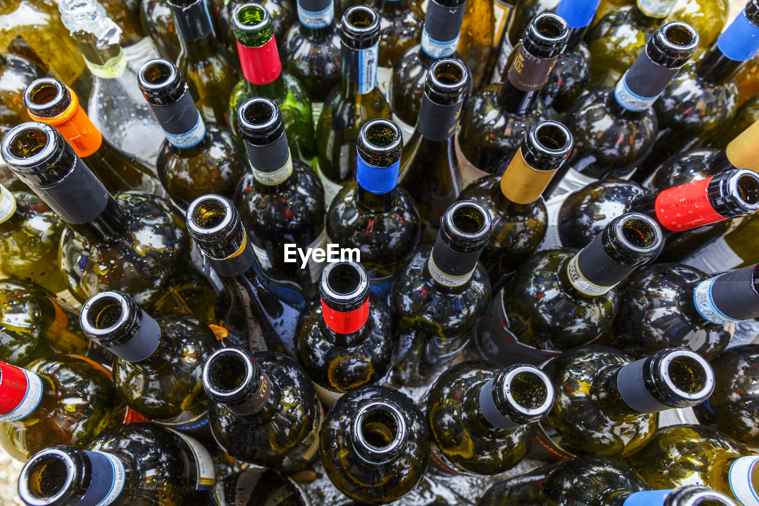 Wine bottles to be recycled