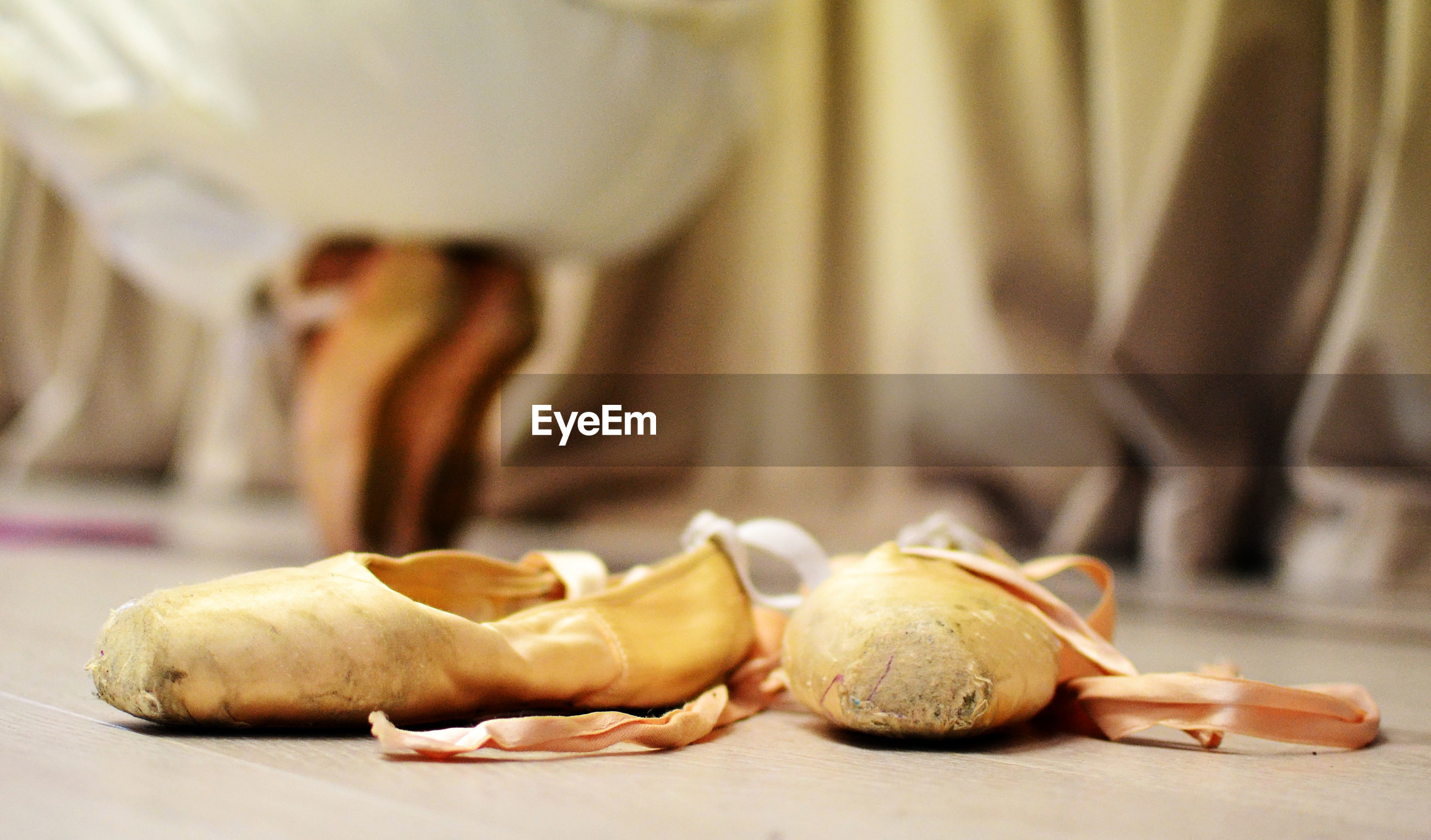 Close-up of ballet shoes