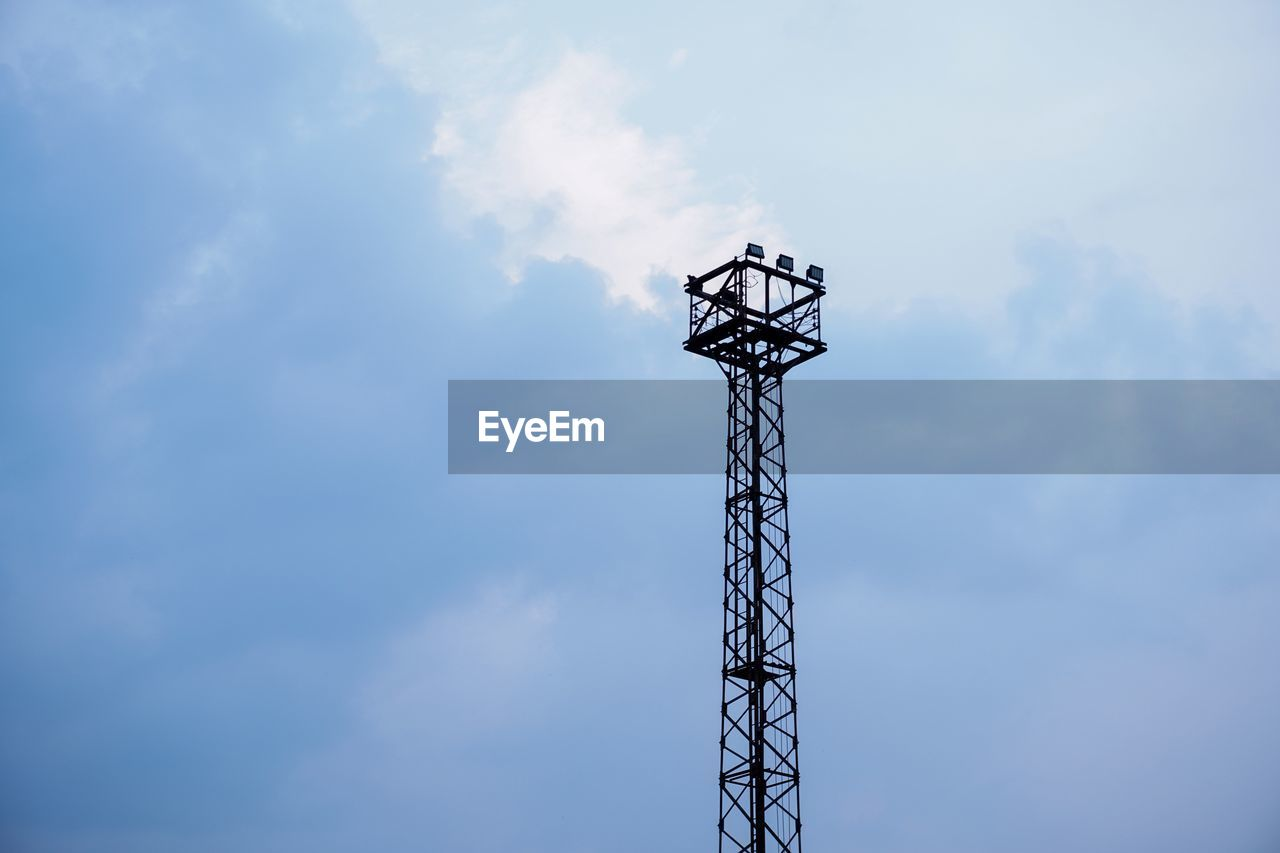 cloud - sky, sky, low angle view, built structure, architecture, metal, no people, nature, day, outdoors, tall - high, silhouette, technology, tower, connection, communication, construction industry, fuel and power generation, industry, global communications, electrical equipment