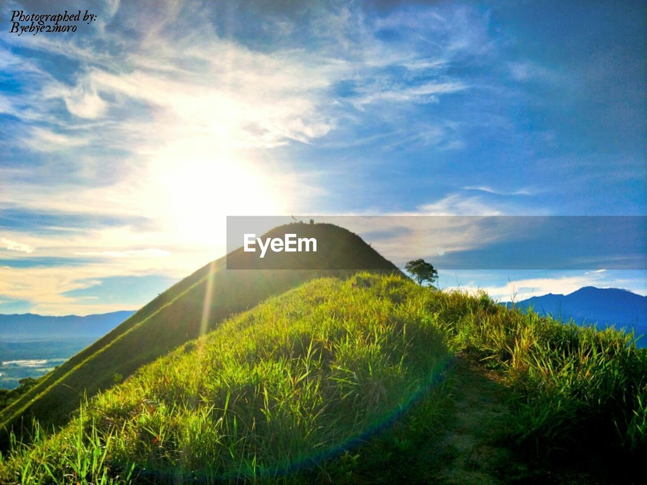 sky, nature, tranquility, tranquil scene, scenics, grass, beauty in nature, mountain, no people, sunlight, landscape, cloud - sky, growth, day, outdoors