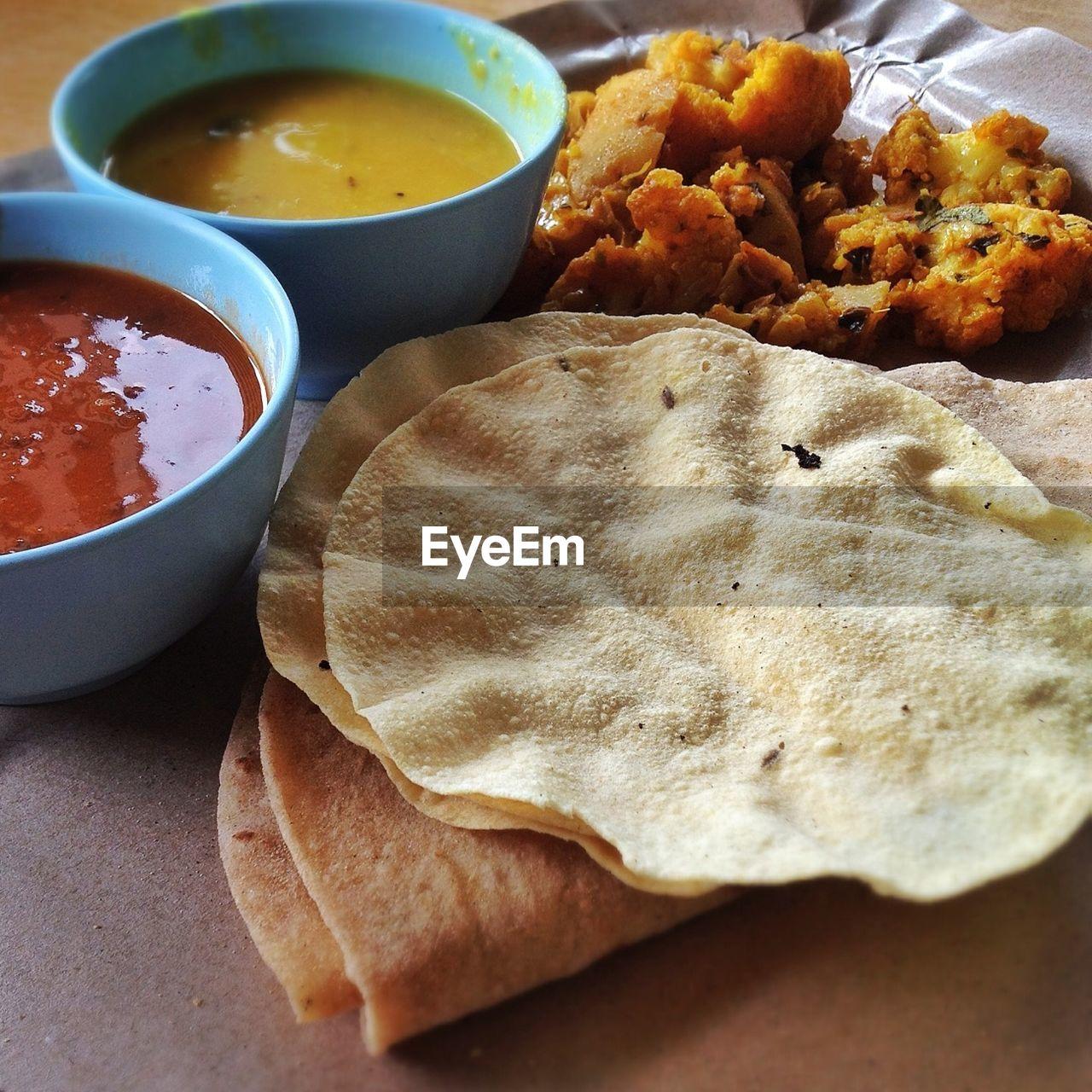 Close Up Of Indian Food