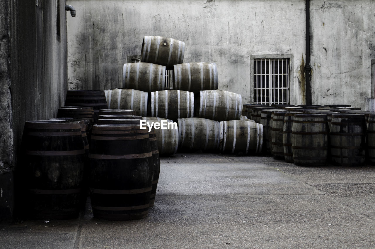 Barrels On Street