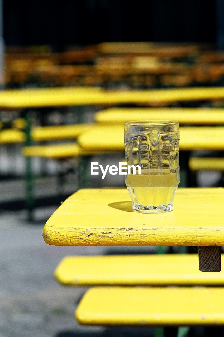 Drink On Yellow Table