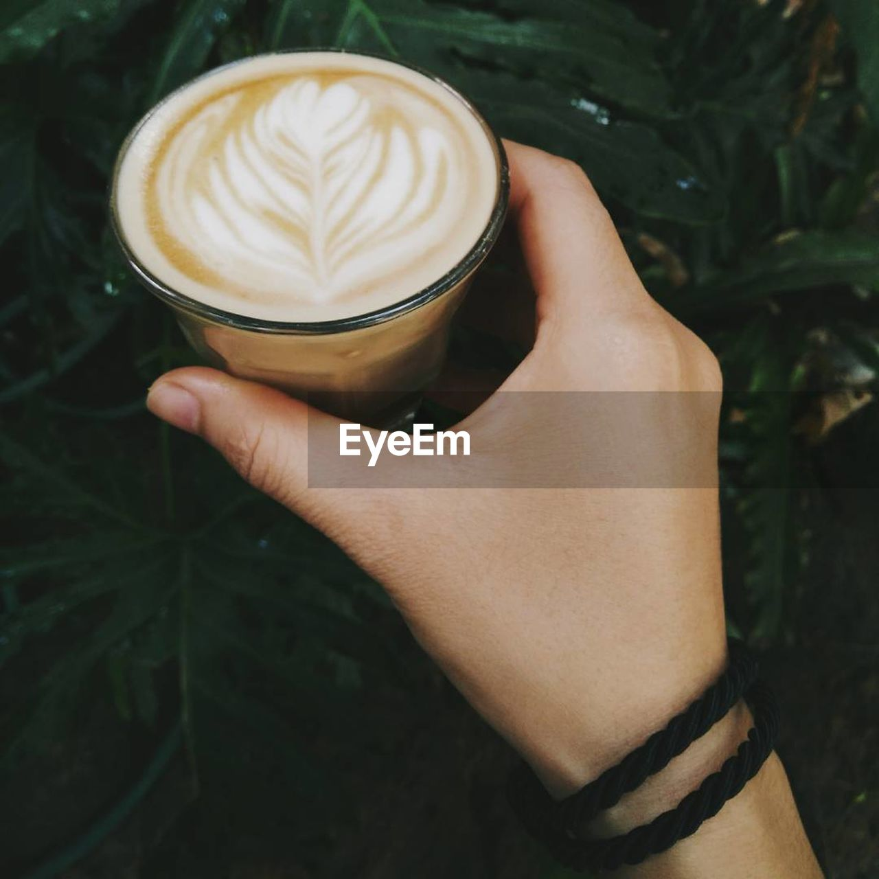 human hand, coffee, coffee - drink, coffee cup, hand, food and drink, drink, mug, cup, frothy drink, one person, real people, refreshment, holding, human body part, leaf, lifestyles, hot drink, froth art, cappuccino, latte, finger, crockery, non-alcoholic beverage