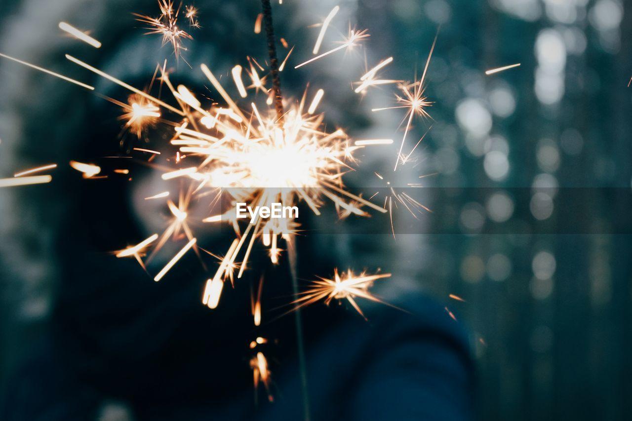Close-up of sparkler